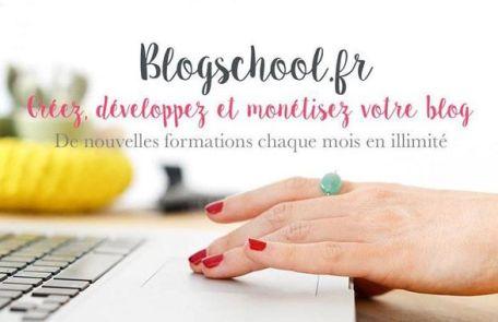 Affiche Blogschool.fr réalisée par Violette Factory