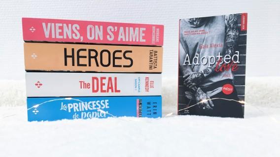 Festival New Romance - Les livres que je souhaite apporter