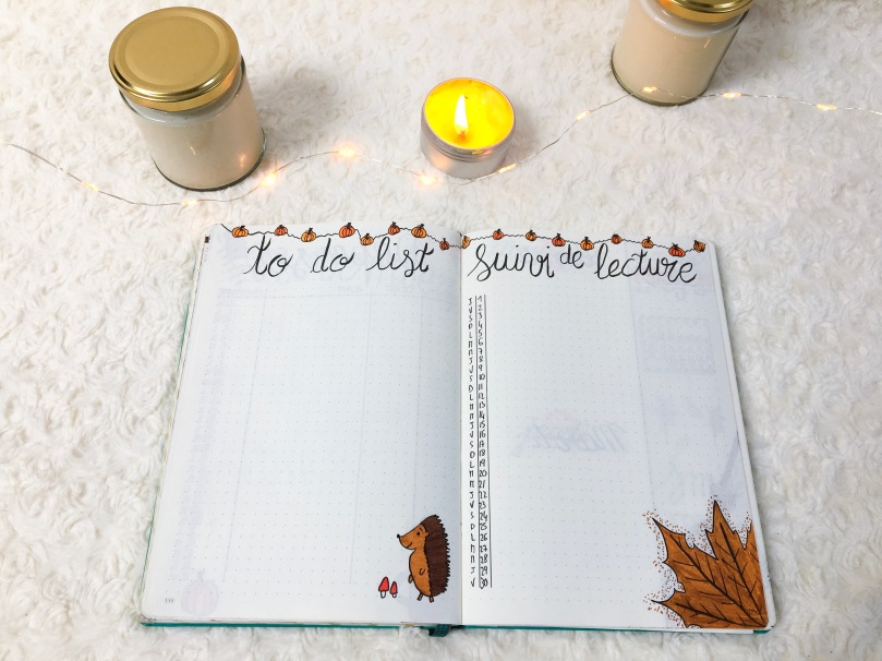 BUJO - Novembre 2018 - TO DO LIST ET SUIVI DE LECTURE