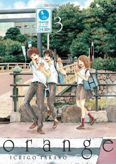 AKATA - Orange, tome 3 - Couverture - Ichigo Takano - La page en folie